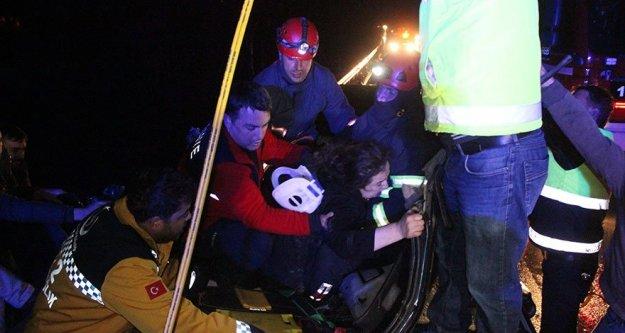 TEM otoyolunda kaza 8 yaralı