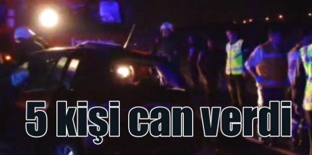 Gaziantep'te feci kaza; 5 ölü 6 yaralı var