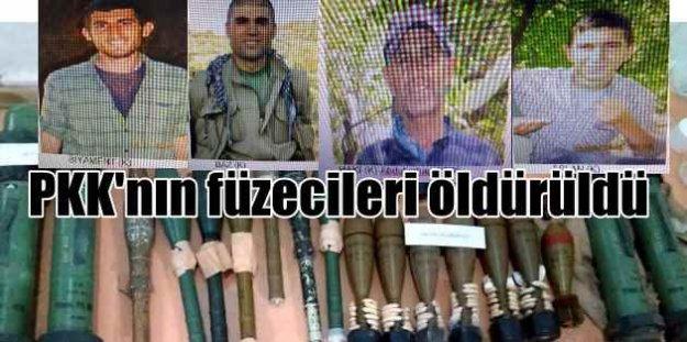 PKK'nın füzecileri Mardin'de öldürüldü