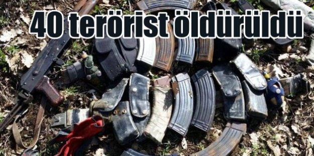 Şırnak Uludere'de 40 terörist öldürüldü
