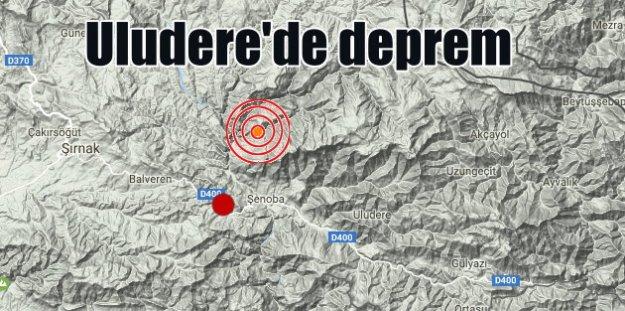 Uludere'de deprem; Uludere 4.0 ile sallandı