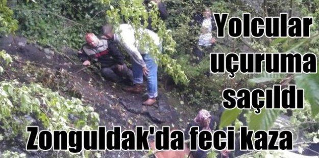 Zonguldak Ereğli#039;de minibüs uçuruma yuvarlandı; 10  ölü var