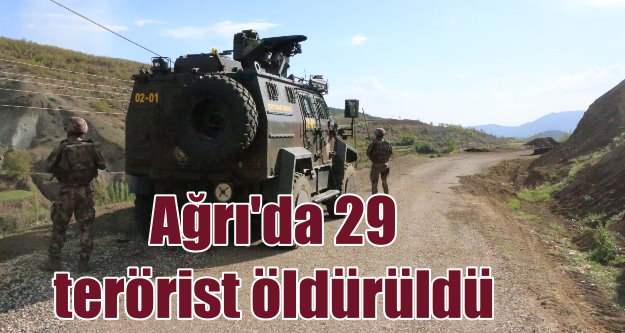 Ağrı'da operasyon; 29 PKK'lı terörist öldürüldü