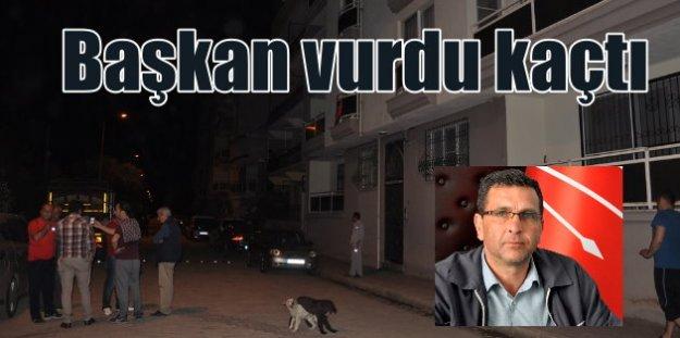 CHP'li ilçe başkanı, parti üyesini karısının gözü önünde vurdu