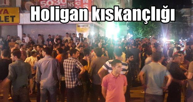 Diyarbakır'da, şampiyonluk kutlamasına holigan engeli