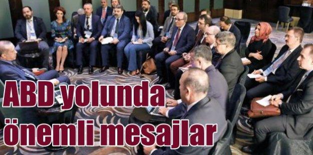 Erdoğan, ABD ziyareti öncesi kritik açıklamalarda bulundu