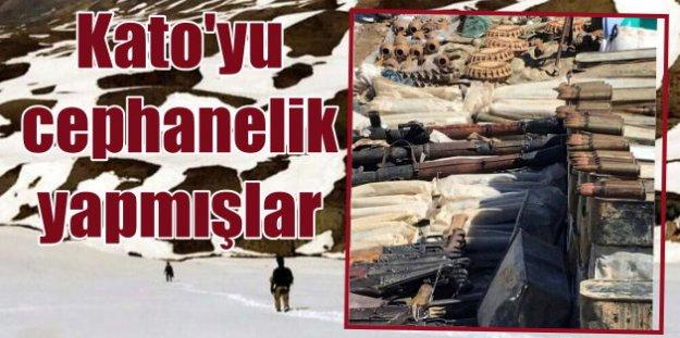 Kato Dağı'nda PKK'nın cephanelikleri imha ediliyor