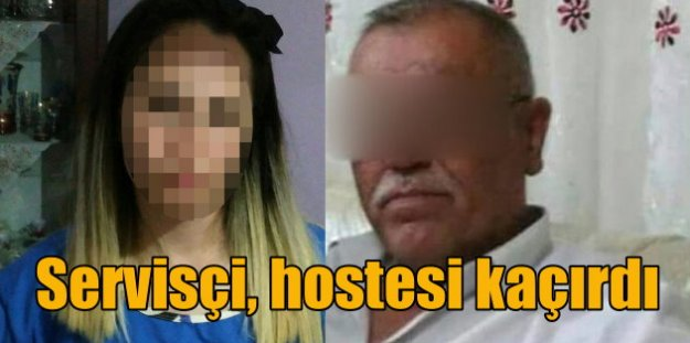 Servis şoförü, 3 çocuk annesi hostesi kaçırdı