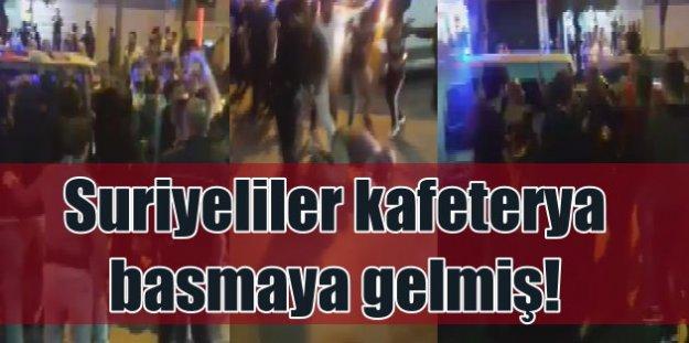 Suriyeliler toplanıp Konya'da kafeterya basmaya gelmiş