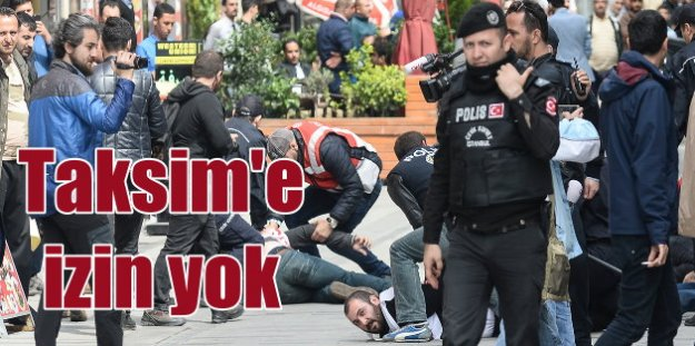 Taksim'e yürümek isteyen gruplara polisten sert müdahale
