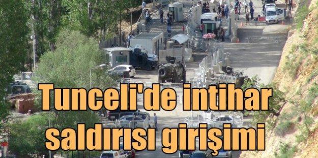 Tunceli'de polis noktasına intihar saldırısı