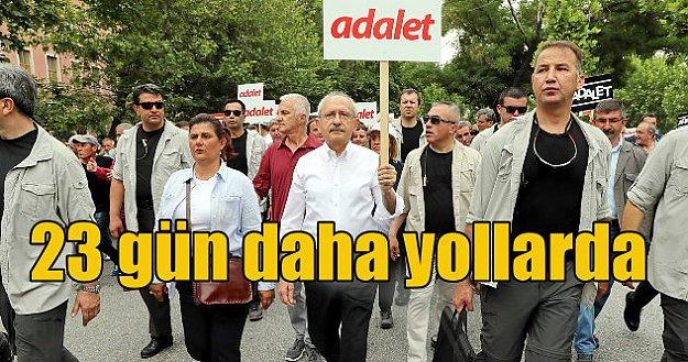 CHP ilk molayı Eryaman'da verdi: Kılıçdaroğlu 23 gün daha yürüyecek