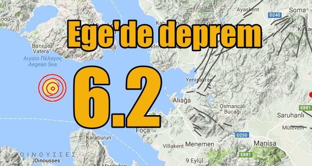 Ege'de deprem oldu: Ege Denizi 6.2 ile sallandı