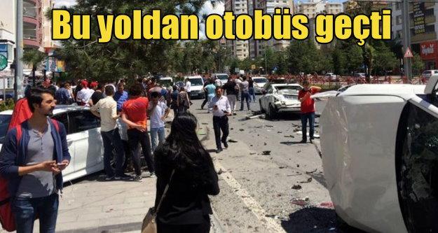 Halk otübüsü Talas'ı savaş alanına çevirdi