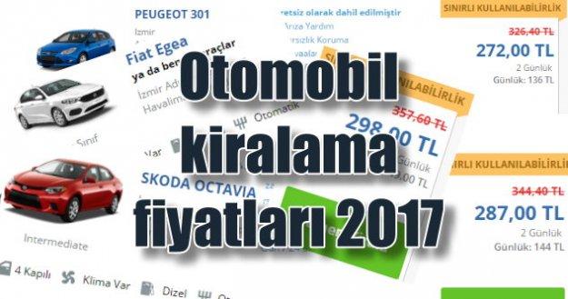 Kiralık otomobil fiyatları 2017, İstanbul günlük araç kiralama