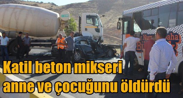 Mardin Artuklu'da kaza, anne ve çocuğu can verdi 12 yaralı var