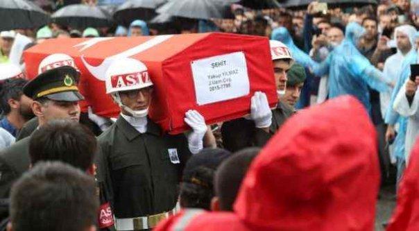 Sakaryalı Şehit Uzman Çavuş Yakup Yılmaz, son yolculuğuna uğurlandı