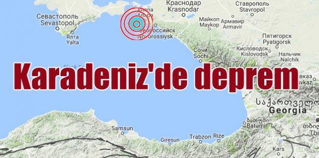Son depremler, Karadeniz'de korkutan deprem, 4.5