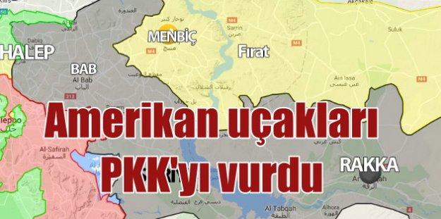 Amerikan uçakları PKK PYD'yi vurdu 40 ölü var