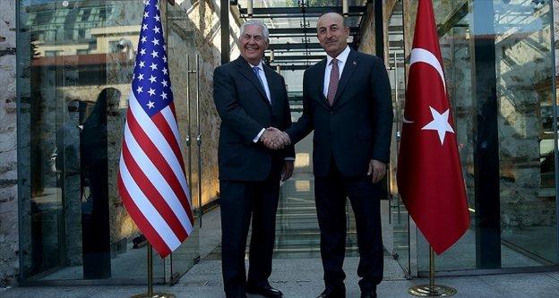 Çavuşoğlu, ABD'li mevkidaşı Tillerson ile görüştü