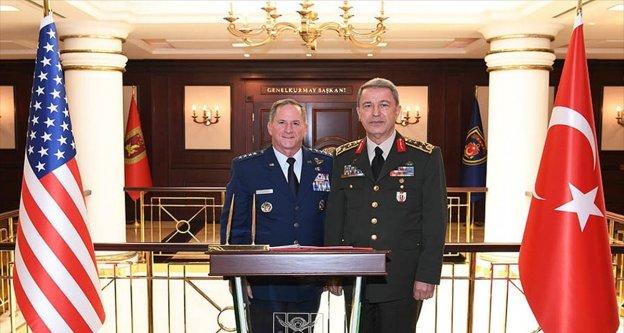 Genelkurmay Başkanı Orgeneral Akar, ABD Hava Kuvvetleri Komutanı'nı kabul etti