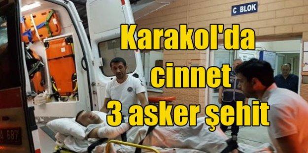 Karakolda cinnet geçiren asker 3 arkadaşını şehit etti