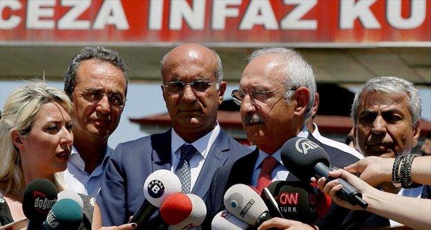 Kılıçdaroğlu, Enis Berberoğlu'nu ziyaret etti