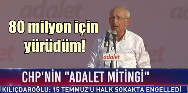 Kılıçdaroğlu Maltepe'de konuşuyor: Adaletin takipçisi olacağız