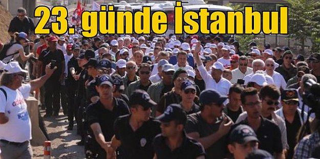 Kılıçdaroğlu yürüyüşünün 23. gününde İstanbul'a girdi