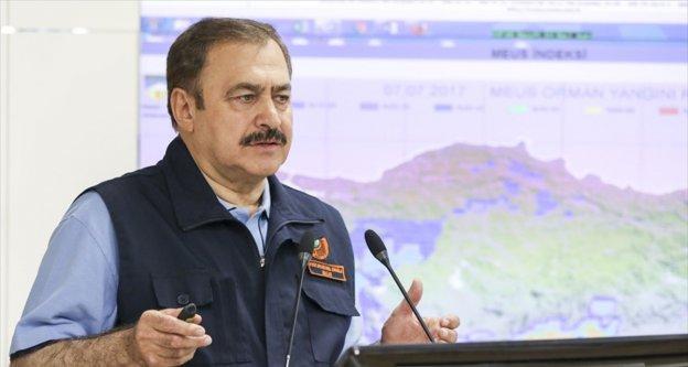 Orman ve Su İşleri Bakanı Eroğlu: Bu yıl 774 orman yangını çıktı