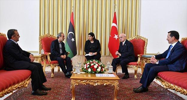 TBMM Başkanı Kahraman, Libya Yüksek Devlet Konseyi Başkanını kabul etti