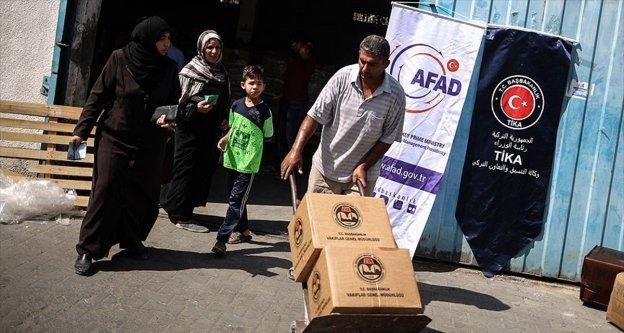 Türkiye'nin 'Şefkat' eli Gazze'ye ulaştı