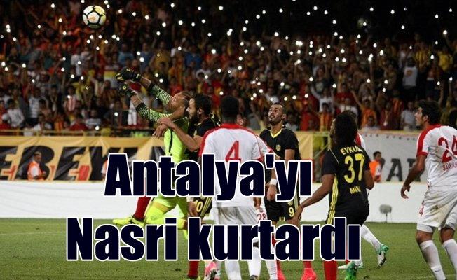 Antalyaspor Nasri ile , Malatya'dan tek puanla dönüyor