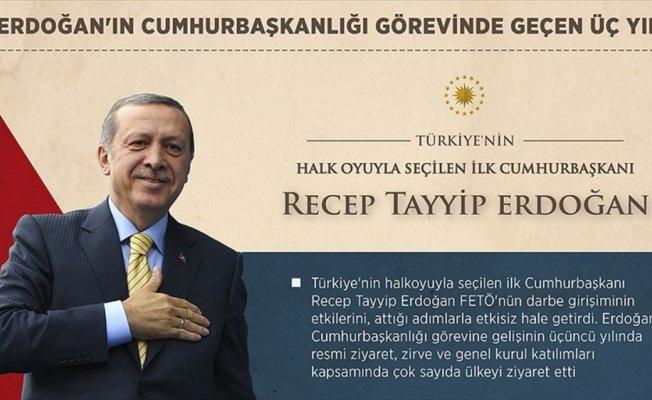 Cumhurbaşkanı Erdoğan'ın görevdeki 'üçüncü' yılı