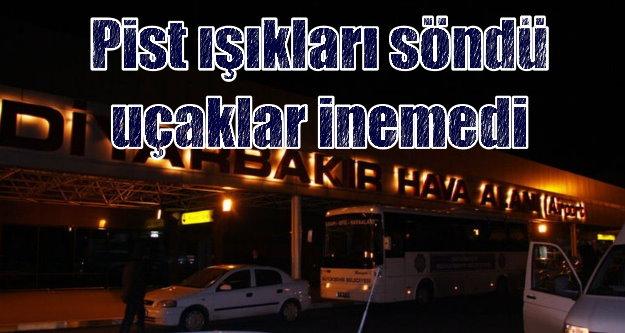 Diyarbakır Havalimanı'nda ışıklar söndü, uçaklar havada kaldı
