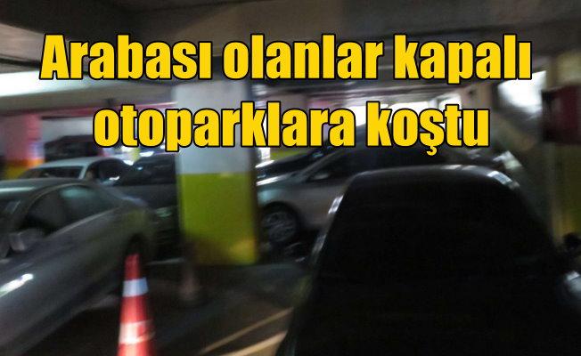 İstanbul'da dolu korkusu: Kapalı otoparklarda yer kalmadı