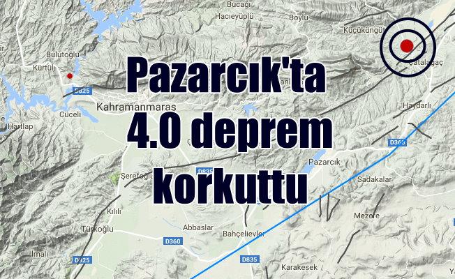 Kahramanmaraş'ta deprem: Pazarcık 4.0 ile sallandı