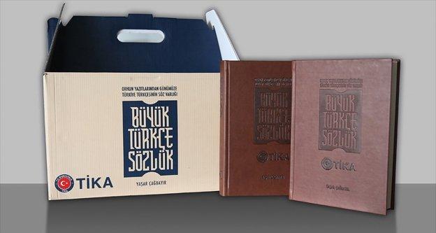 TİKA'nın hazırladığı Büyük Türkçe Sözlük 98 ülkeye gönderildi