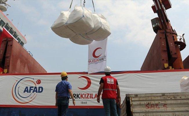 Türkiye'nin Yemen'e insani yardımları devam ediyor