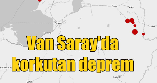 Van Saray'da deprem; Sabaha karşı 4.4 ile sallandı