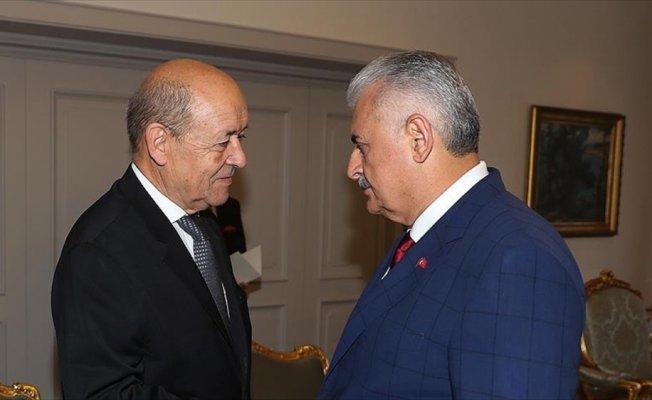 Başbakan Yıldırım, Fransa Dışişleri Bakanı'nı kabul etti