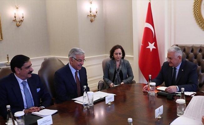 Başbakan Yıldırım'ın Pakistan Dışişleri Bakanı Asıf'ı kabulü