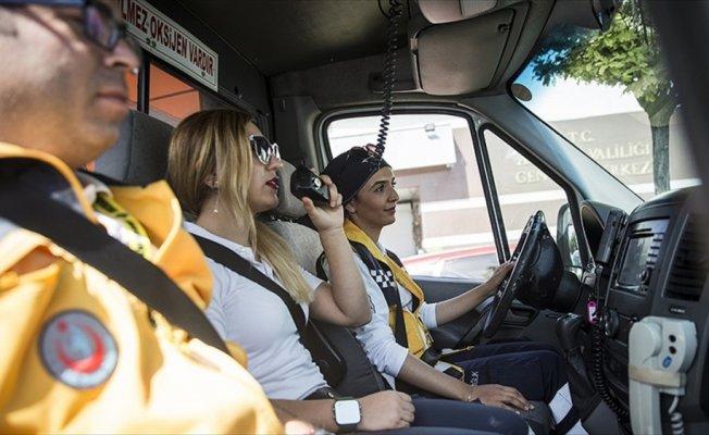 Başkentin kadın ambulans şoförleri görev başında