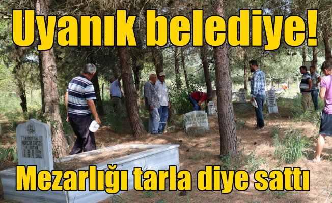 Belediye mezarlığı 'Tarla' diye sattı, vatandaşlar isyan etti