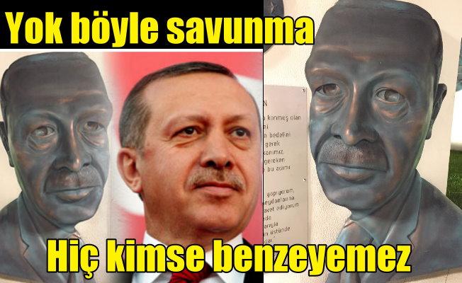 Erdoğan'a benzemeyen heykele 'Kimse Erdoğan'a benzeyemez'li savunma