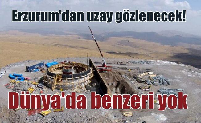 Erzurum Gözlemevi'nin dünyada benzeri yok