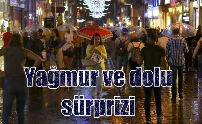 İstanbul'da dolu ve yağmur etkili oldu