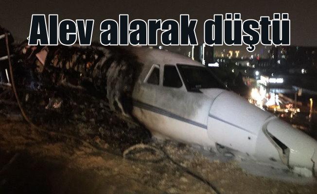İstanbul'da uçak düştü; 4 yolcu yaralandı