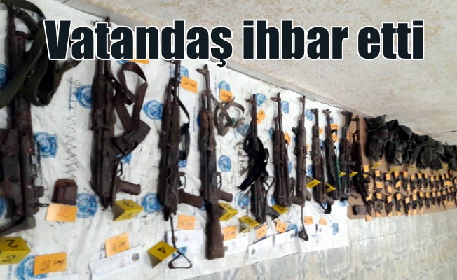 Nusaybin'de PKK cephaneliği bulundu: Vatandaşlar ihbar etti