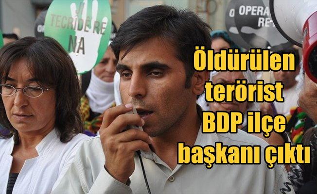 Hakkari'de öldürülen PKK'lı BDP İlçe Başkanlığı yapmış